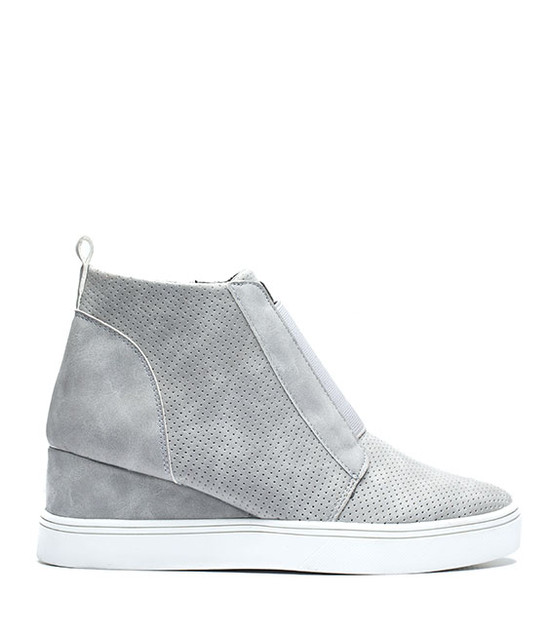 Raja Wedge Sneaker in Grey