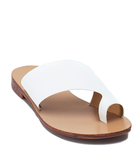 Danni Slip On Flat Sandals White