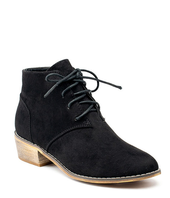 Brady Lace Up Bootie Black