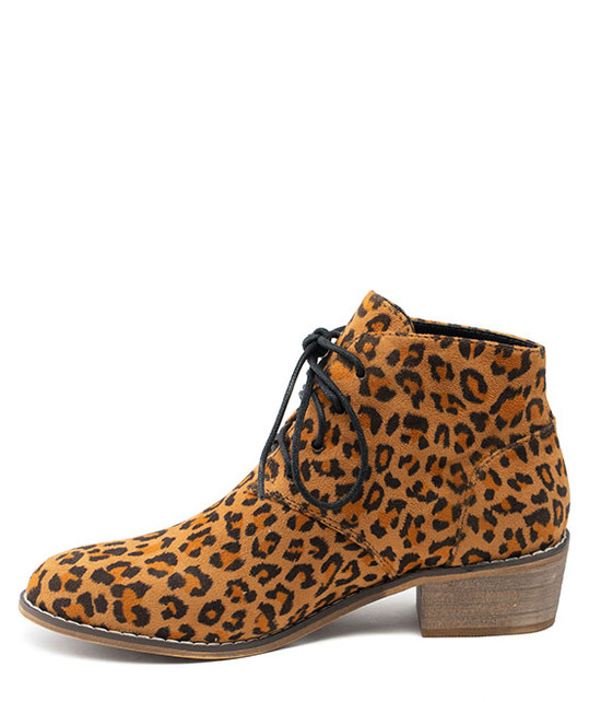 Brady Lace Up Bootie Leopart