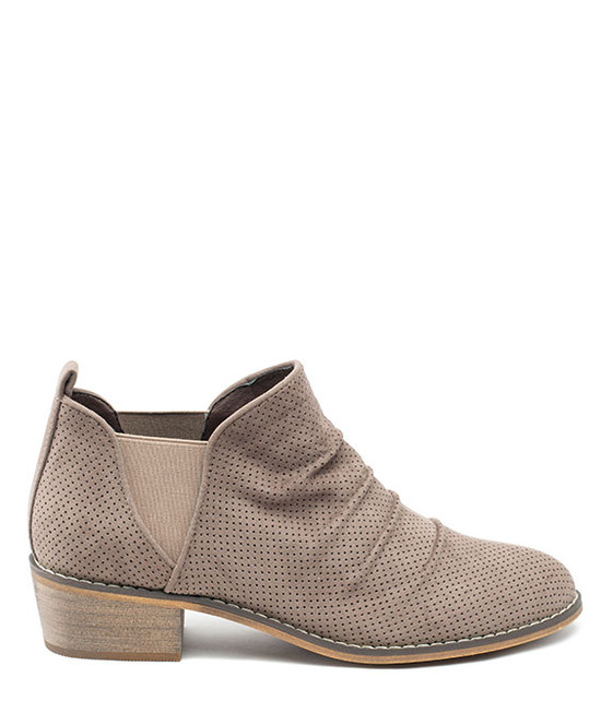 Chelse Slim On Bootie Taupe