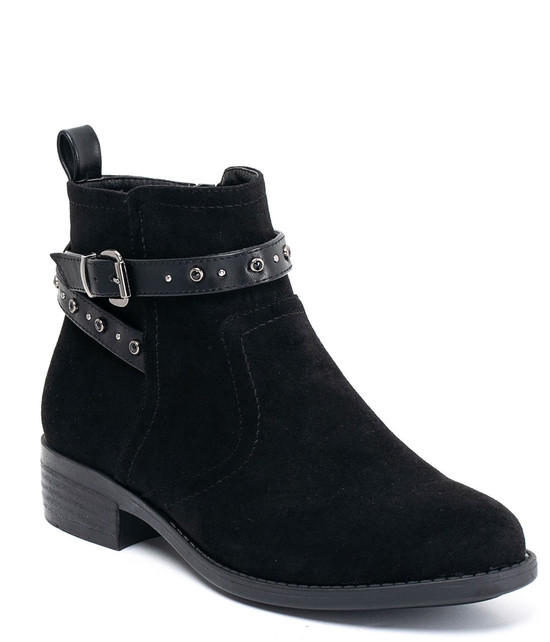 Gc Shoes Cassidy Ankle Buckle Strap Booties Black