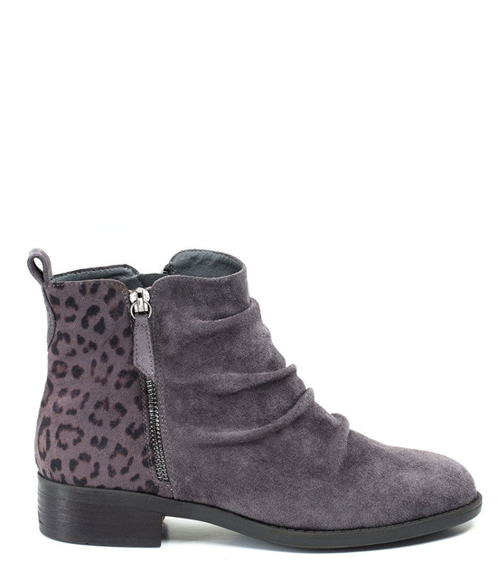 Gc Shoes Nori Ankle Bootie Double Side zip Grey