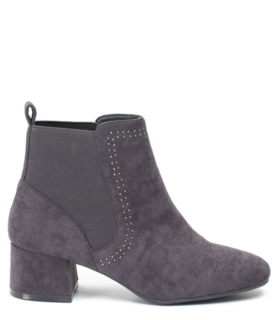 Gc Shoes Gisella Faux Suede Elastic Band Bootie Taupe