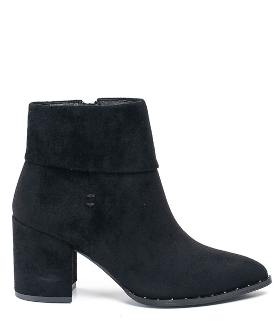 Gc Shoes Essie Folded Block Heel Bootie Black