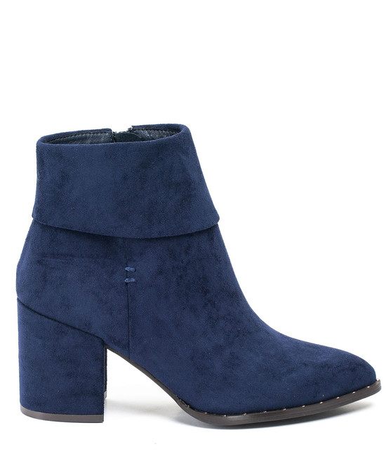 Gc Shoes Essie Folded Block Heel Bootie Navy