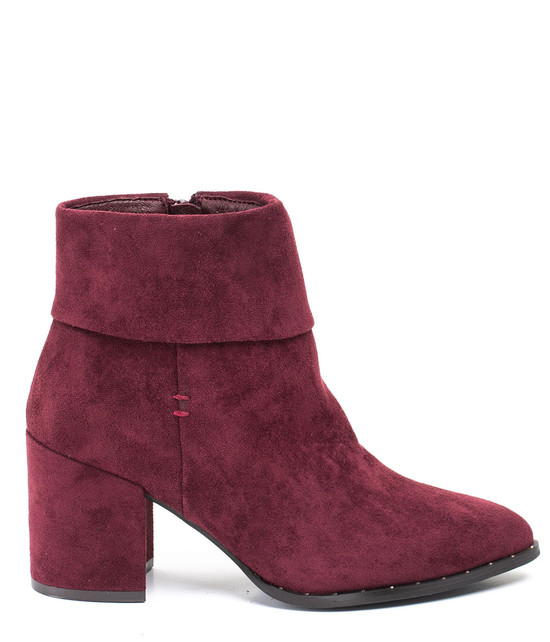 Essie Block Heel Bootie in Burgundy