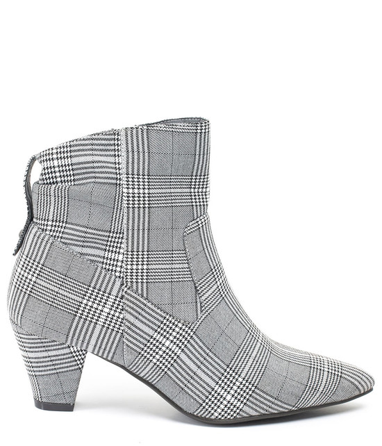 Levi Plaid High Heel Bootie in Black