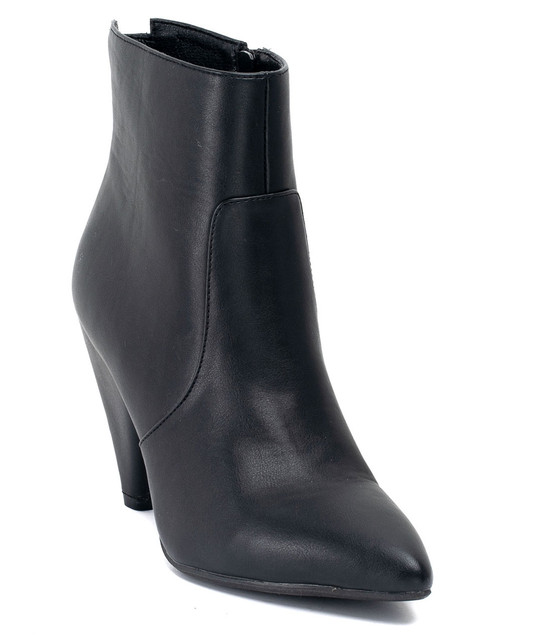 Dion Back zip Up High Heel Bootie Black