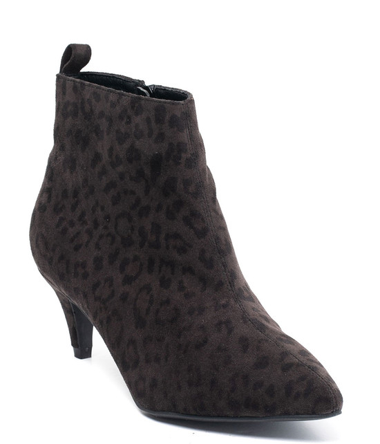 Gc. Shoes Aden Ankle Bootie Black Leopard