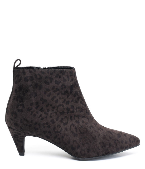 Aden Leopard Ankle Bootie in Black