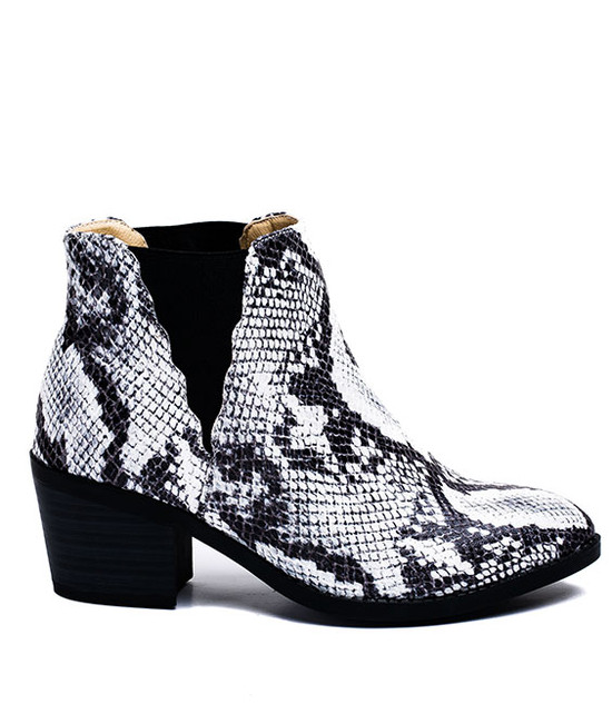 Gc Shoes Indira Elastic Python Ankle Bootie