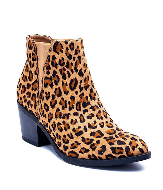 Gc Shoes Indira Elastic Leopard Ankle Bootie