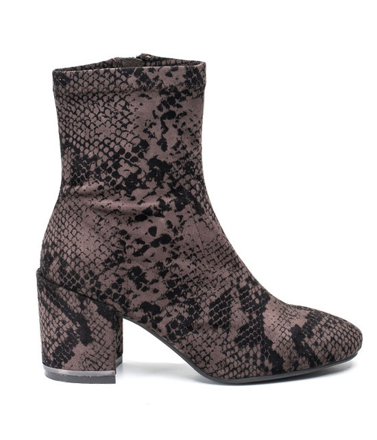 Penny Print Snake Skin Taupe