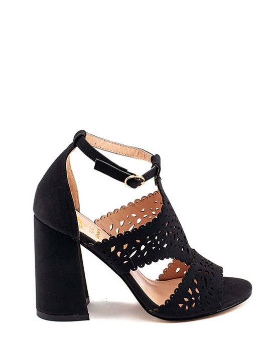Amala Heeled Sandal in Black