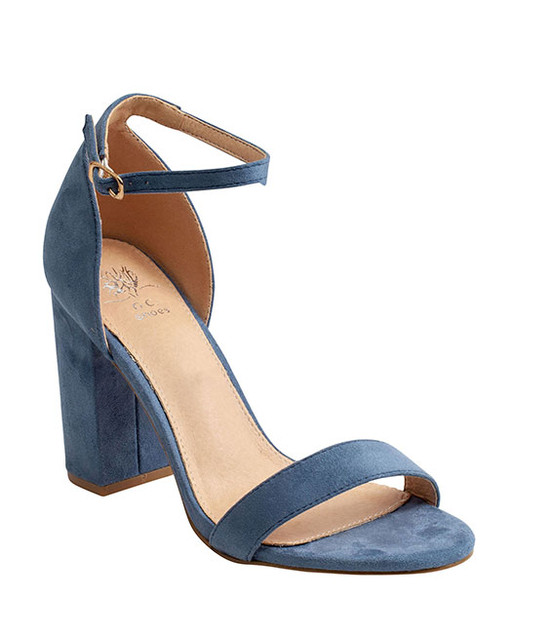 Meli Heeled Sandal in Blue