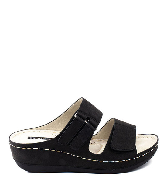 Doreen Slip On Sandal in Black