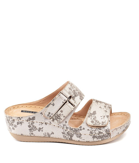 Doreen Slip - On Women Sandal By Gc. Shoes -White Floral