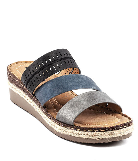 Lupe Slip - On Sandal By Gc. Shoes Multi Black