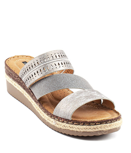 Lupe Slip On Sandal in Multi Brown