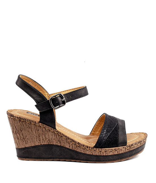 Ross Wedge Sandal By Gc. Shoes Black