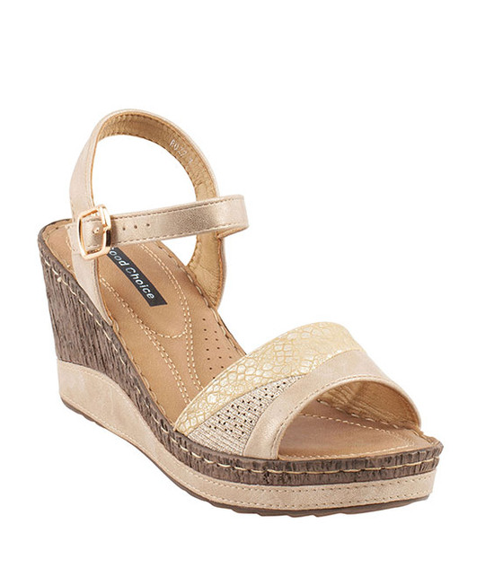 Ross Wedge Sandal By Gc. Shoes Gold