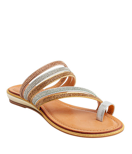 Harmonie Slip-On Rhinestone Sandal By Gc. Shoes Multi