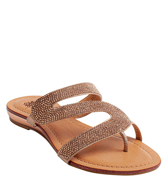 Nylah Slip-On Rhinestone Sandal By Gc. Shoes Rose Gold