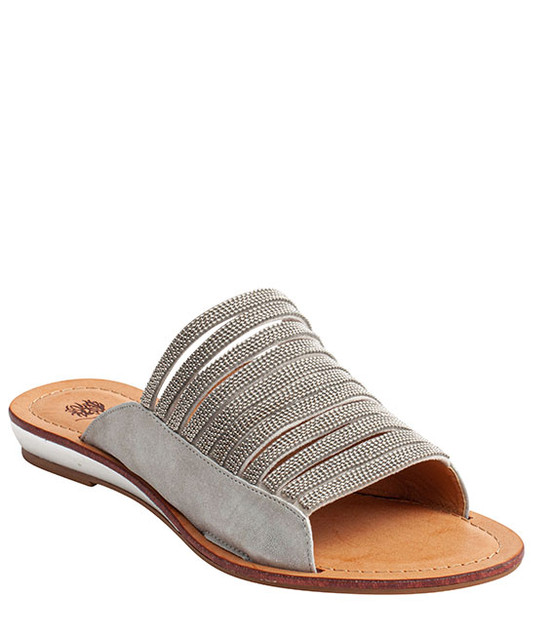 Mattie Slip-On Rhinestone Women Sandal By Gc Shoes Silver