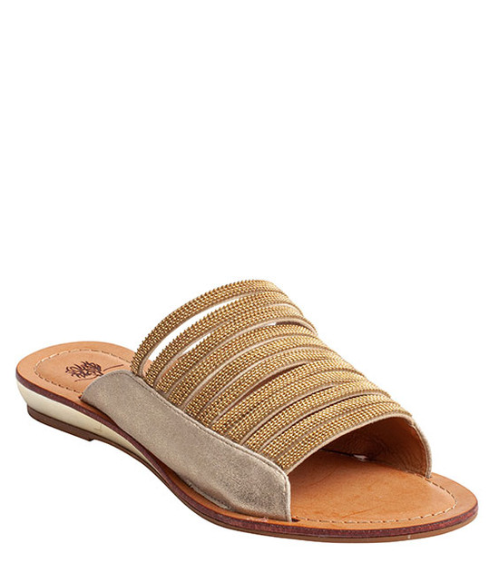 Mattie Slip-On Rhinestone Women Sandal By Gc Shoes Gold