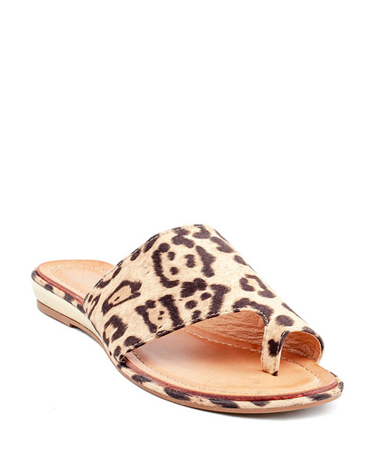 Harlow  Slip - On Sandal by Gc. Shoes Leop
