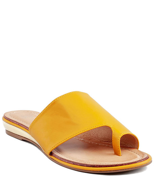 Harlow  Slip - On Sandal by Gc. Shoes Mustard