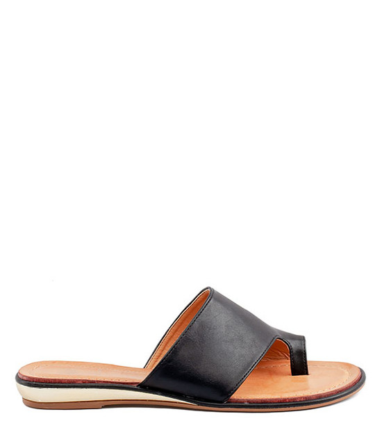 Harlow Slip On Sandal in Black