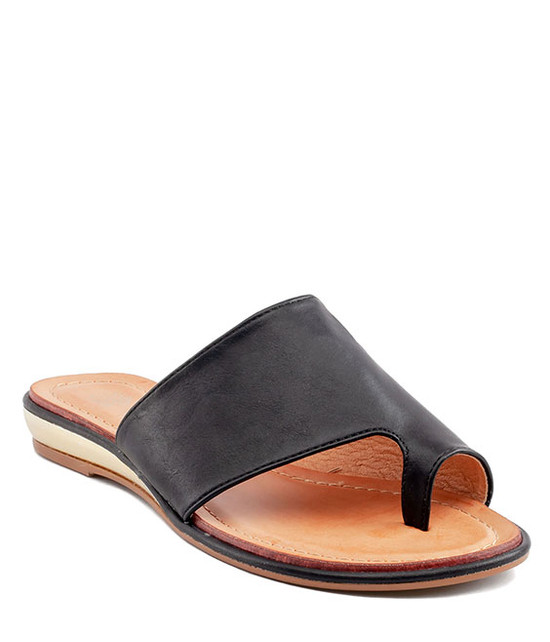 Harlow  Slip - On Sandal by Gc. Shoes Black