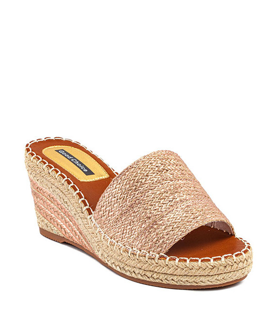 Deanna Wedge Slip - On Women Sandal Rose Gold