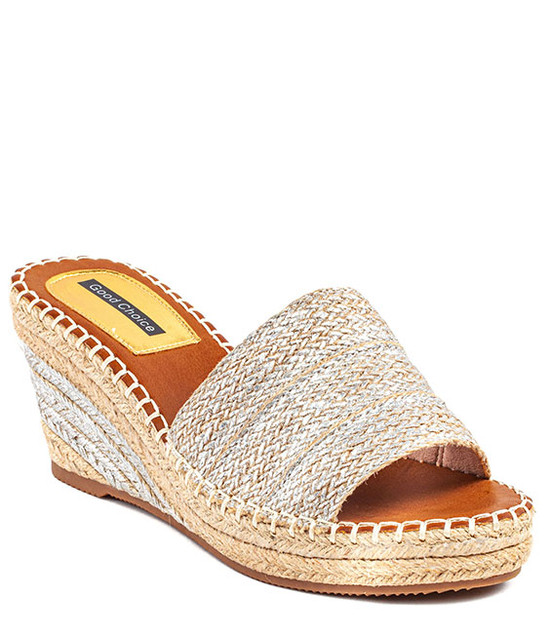 Deanna Wedge Slip - On Women Sandal Silver