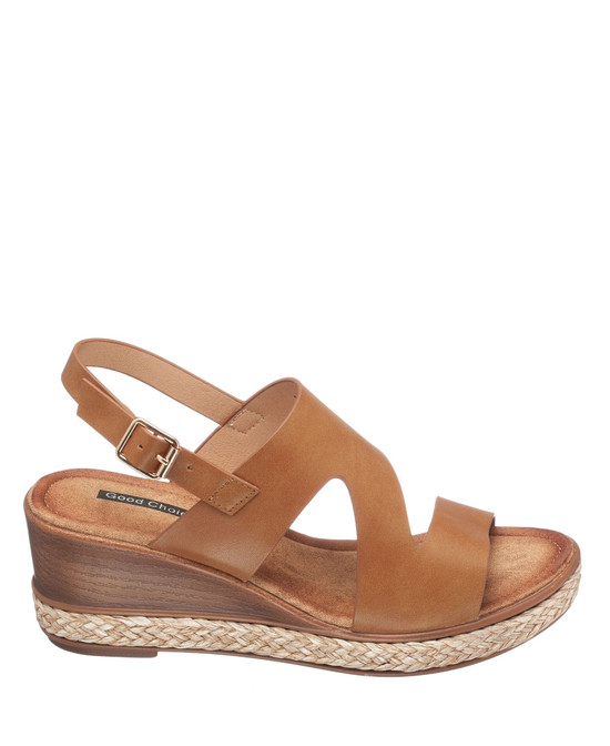 Lauriana Wedge Sandal in Cognac
