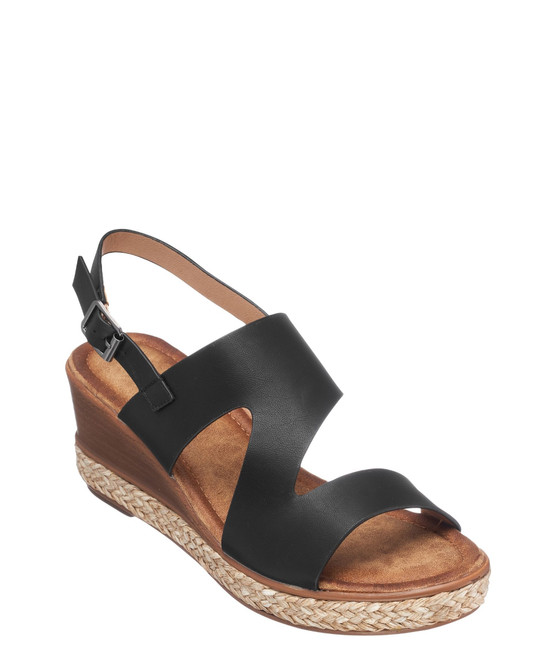 Lauriana Wedge Sandal In Black