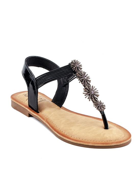 Carlie Sandal in Black