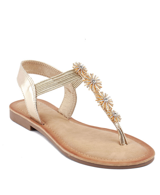 Carlie Sandal in Gold