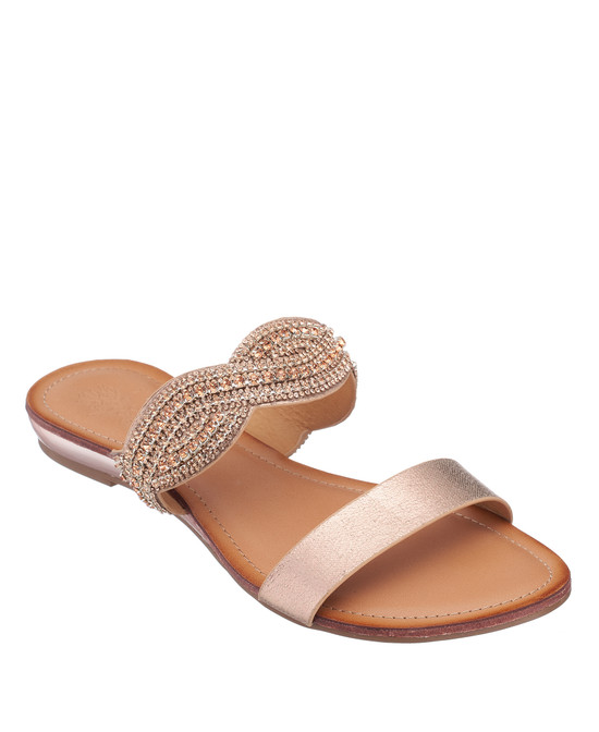 Jacey Sandal in Rose Gold
