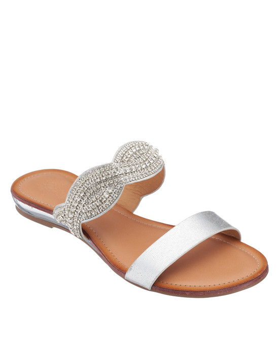 Jacey Sandal in Silver