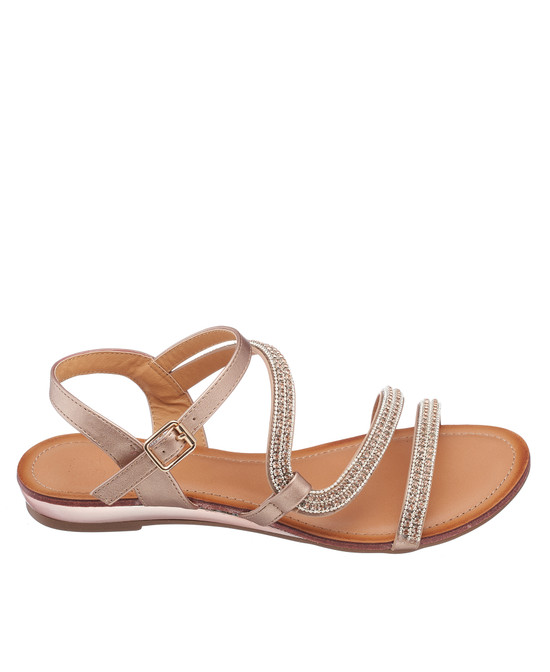 Glassy Sandal in Rose Gold