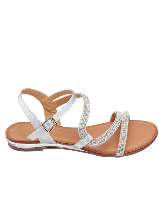 Glassy Sandal in Silver