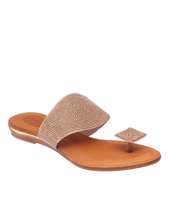 Dollie Sandal in Rose Gold