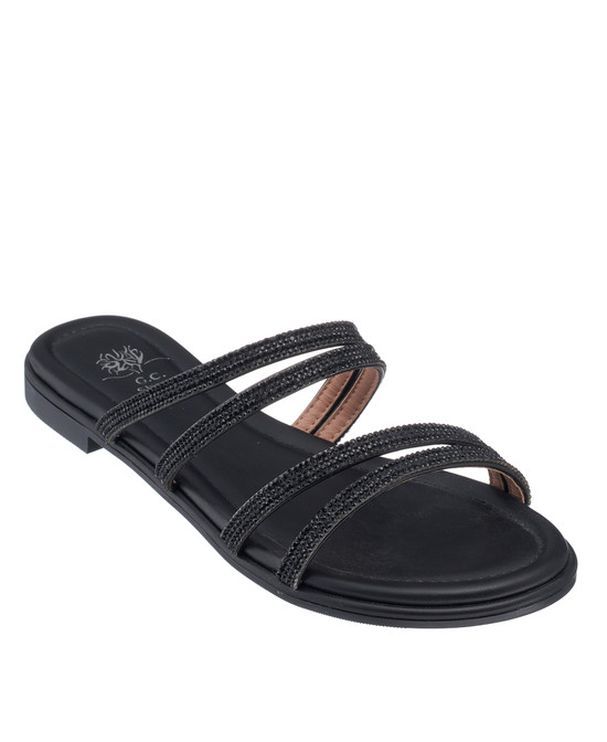Cindy Sandal in Black