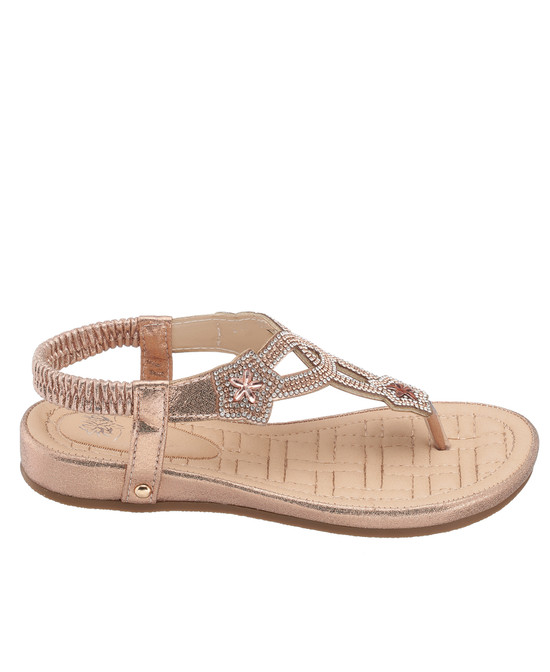 Eva Sandal in Rose Gold