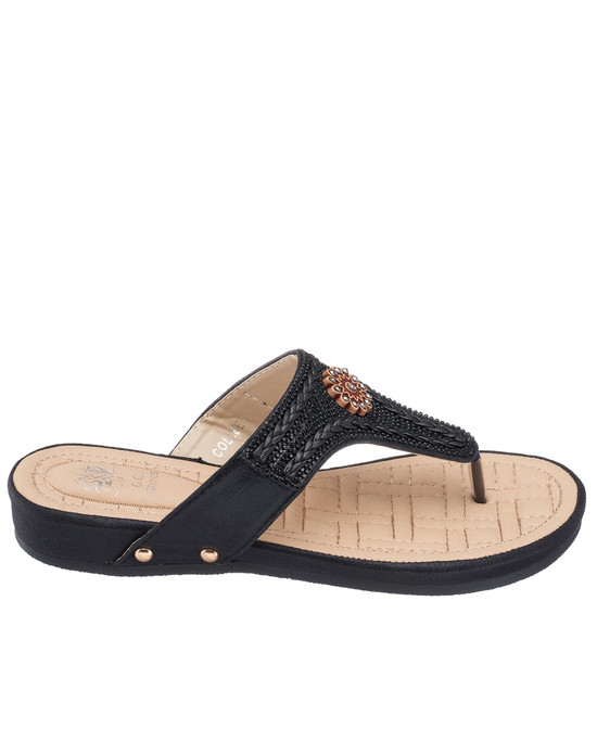 Colleen Sandal in Black