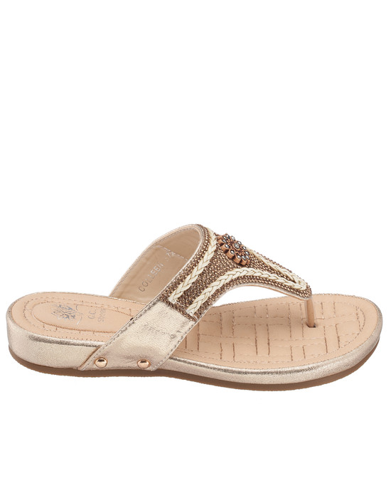 Colleen Sandal in Gold