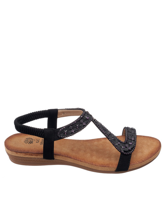 Resa Sandal in Black